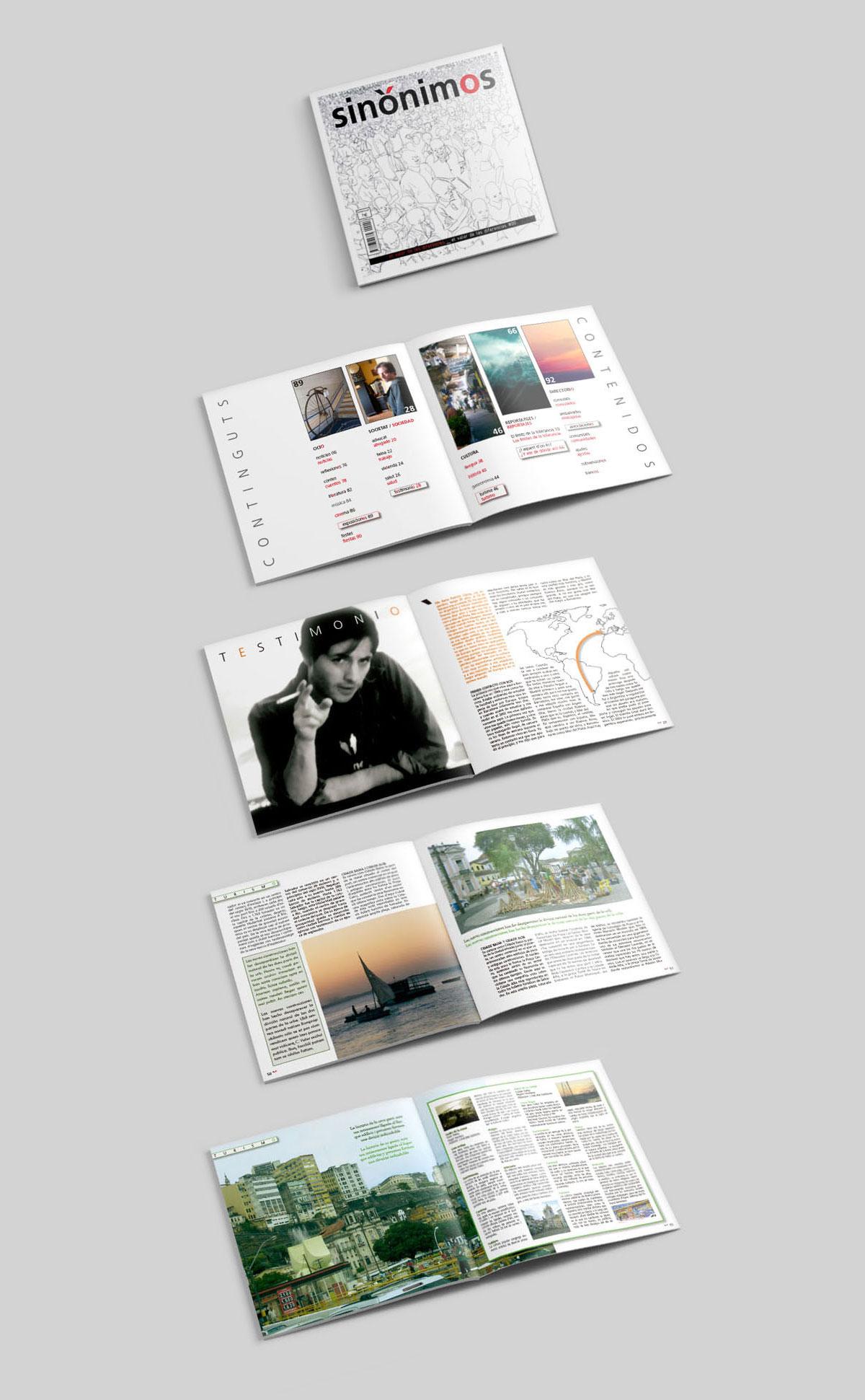 Diseño y maquetación revista sinónimos